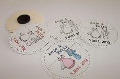 Einladungskarten - Save-the-Date-Button mit Magnet - ein Designerstück von brightday bei DaWanda