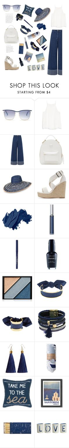 """""""Take me to the sea."""" by totalteenagenobody ❤ liked on Polyvore featuring Balmain, MANGO, Sea, New York, Versace, Armani Jeans, Charlotte Russe, Bobbi Brown Cosmetics, Wet n Wild, Elizabeth Arden and Monica Sordo"""