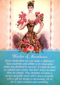Healer Of Abundance, from the Guardian Angel Tarot Card Deck, by Doreen Virtue, Ph.D and Radleigh Valentine