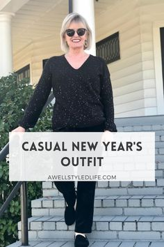 A casual New Year's Outfit perfect for the new year and all winter long.