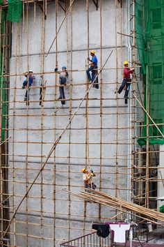 Bamboo Scaffolding used for construction in Hong Kong