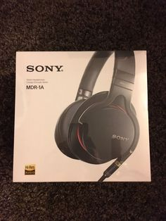 BRAND NEW SEALED Sony MDR-1A Premium High-Resolution Stereo Headphones (Black)