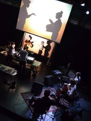 """Manual Cinema's """"Lula del Ray"""" will combine overhead projectors, shadow puppets, actors in silhouette, and live music on Jan. 31 at the Theatre at Raritan Valley Community College in Branchburg. (Photo: ~Courtesy of RVCC)"""