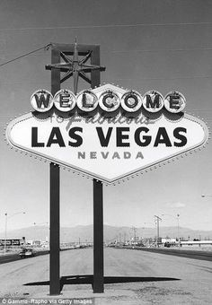Historical Photos Of The Early Days Of Las Vegas | Historian Insight One of the most famous signs in the world. See how empty the background is.