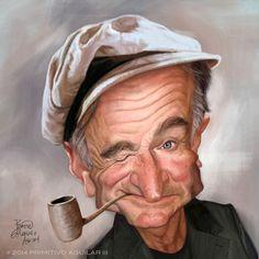 Caricatura de Robin Williams