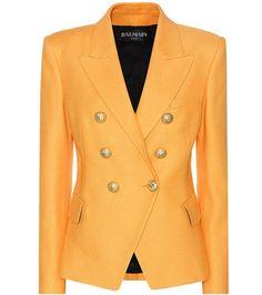 Buy it now. Cotton Blazer. Orange Double-breasted Blazer By Balmain , americana, americana, blazer, levita, levita, americanas, americanabásica, blezer, blazerdepunto, frock-coat. Dark orange Balmain  blazer  for woman.