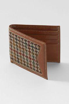 adf040808bde Men s Tweed Leather Wallet from Lands  End  49 Lands End
