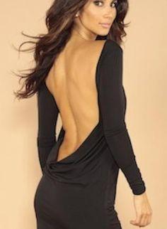 Black Little Black Dress - Classic backless dress   UsTrendy