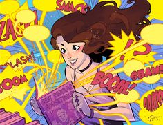 Comic Corner - City Library Girl Reads Comics