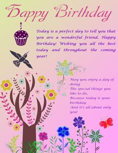 Happy Birthday Ecard Qoutes Greetings Friend Wishes Quotes