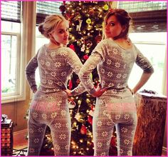 Aly And AJ Michalka Celebrate Christmas In Matching Pajamas