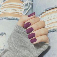 That nail color tho mauve nails, purple nail polish, purple shellac nails, summer Gorgeous Nails, Love Nails, How To Do Nails, Pretty Nails, My Nails, Plum Nails, Berry Nails, Dark Purple Nails, Purple Manicure