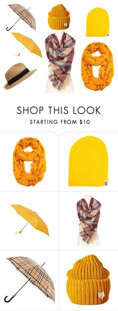"""""""Orange/Yellow"""" by mirielanarion on Polyvore featuring moda, Totes i Burberry"""