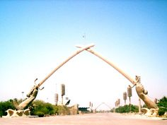 Victory Arch over the Great Celebrations Square in Baghdad, Iraq.