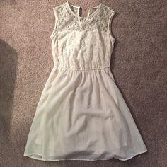 Cream dress Cream lace and chiffon summer dress, mid thigh length H&M Dresses Midi