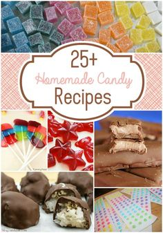 25 Homemade Candy Recipes - Candy - Ideas of Candy Hard Candy Recipes, Fudge Recipes, Sweet Recipes, Homemade Sweets, Homemade Candies, Homemade Candy Recipes, Homemade Recipe, Homemade Ice, Christmas Treats
