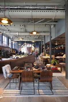 Roman and Williams shop & La Mercerie Cafe - On Mercer from Howard to Canal, enter on Canal Architecture Restaurant, Restaurant Design, Restaurant Bar, Vintage Restaurant, Restaurant Interiors, Contemporary Interior Design, Best Interior Design, Bathroom Interior Design, Interior Sketch