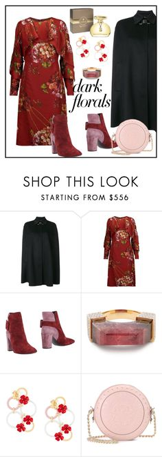 """""""Sin título #1174"""" by yblacasa ❤ liked on Polyvore featuring Versace, Mikael Aghal, Roger Vivier, TOUS, Jade Jagger, Marni, Balmain and darkflorals"""