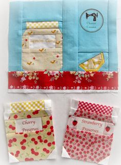 Charise Creates: jam jars and fruit blocks. Working on a pattern ~ coming soon!