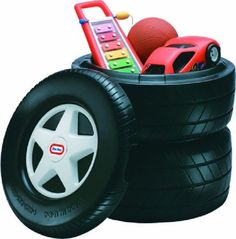 Great addition for a Race Car theme for a toddler room. Little Tikes Classic Racing Tire Toy Chest by Little Tikes http://www.amazon.com/dp/B00271QZF4/ref=cm_sw_r_pi_dp_3dAsqb0ZVVCRJ