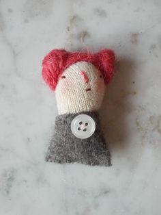 Little Women  art doll brooch by maidolls on Etsy, £13.00