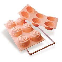 Molde 6 cavidades silikomart sf077-rosa