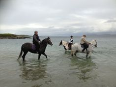 Splashing in the Atlantic Ocean with your horse is a great bonding experience - courtesy of Connemara Equestrian Escapes Riding Holiday, Ireland Holiday, Connemara, Atlantic Ocean, Horse Riding, Horseback Riding, Equestrian, Horses, Animals