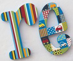Letras infantiles Letras de madera pared letras letras por PoshDots
