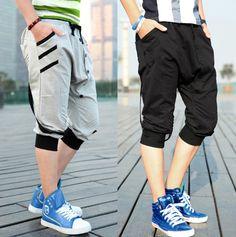 Striped Harem Shorts