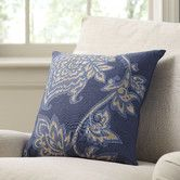 Found it at Birch Lane - Penelope Cotton Pillow Cover, Navy