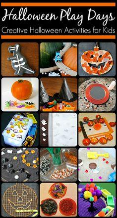 Halloween Play Days - 18 Creative Halloween Activities for Kids