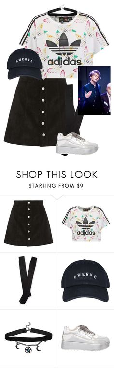 """Vernon!"" by pieeella ❤ liked on Polyvore featuring AG Adriano Goldschmied, adidas Originals, Aéropostale and Hot Topic"