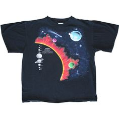 Solar System Print Shirt 80's 90's Vintage Graphic TShirt Unisex Large... ($33) ❤ liked on Polyvore featuring tops, t-shirts, shirts, t shirts, t shirt, star t shirt, graphic design t shirts, vintage graphic tees and graphic t shirts