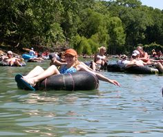 Floating the river! Good country fun.