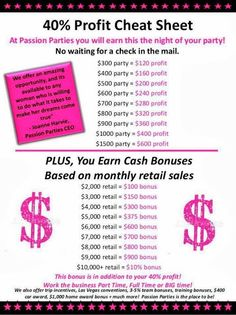 Passion Parties.  Have questions? Check out the questions commonly asked by women interested in the business. Have even more questions, fill in the form on the website and I will be in contact with you soon..... http://treasuresbymisty.yourpassionconsultant.com