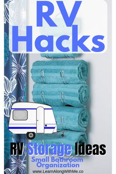 Camping hacks to get your tiny RV bathroom organized. Start now and enjoy your camping trips instead of getting frustrated trying to find things! This post contains 8 RV storage ideas to inspire you to get organized. (Today...not next year)