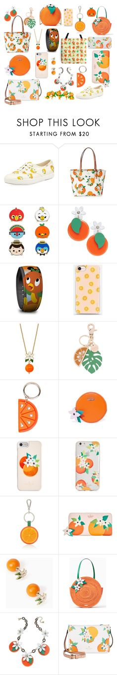 """Orange You Adorable!?"" by heathersjams on Polyvore featuring Kate Spade, Disney, See by Chloé, Charlotte Olympia and Barneys New York"