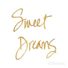 Sweet Dreams (gold foil) Art Print
