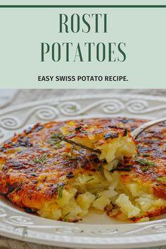 Easy Potato Recipes, Side Dish Recipes, Vegetable Recipes, Vegetarian Recipes, Cooking Recipes, Healthy Recipes, Potato Sides, Potato Side Dishes, Vegetable Side Dishes