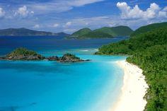 Most beautiful beach in the world... Trunk Bay, USVI