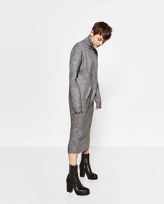 Image 1 of ROLL NECK LONG DRESS from Zara