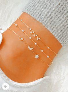 Diy Jewelry Rings, Ankle Jewelry, Stylish Jewelry, Cute Jewelry, Boho Jewelry, Jewelry Accessories, Fashion Jewelry, Jewlery, Summer Bracelets