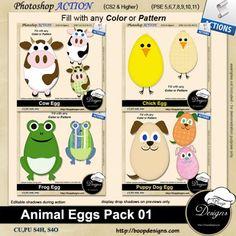 Animal Egg Pack 01 by Boop Designs