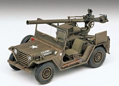 NEW M-151A1 with 105mm Recoilless Gun 1/35 Academy Model Kit Military Army Jeep picclick.com