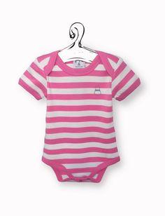 Body a righe bianche e rosa  Abbigliamento firmato economico bebè, body anallergico, body manica corta colorato. biobiobimbo.com
