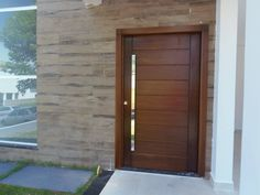 Exterior front entrance modern entry decor 20 ideas for 2019 Modern Entrance Door, Home Entrance Decor, Modern Entry, Modern Front Door, Entry Doors, Wooden Door Design, Main Door Design, Front Door Design, Wooden Doors