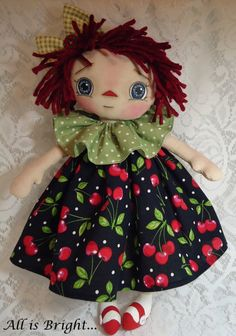 Raggedy Doll Maci by Allisbright on Etsy