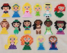 Disney princesses perler beads