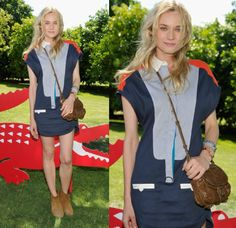 Diane Kruger wore Lacoste at the Lacoste L!VE pool party during Coachella 2012