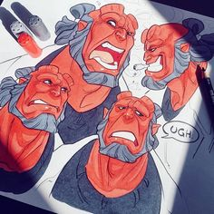 For details 😗 copics over doodles! It's another Friday Hellboy 😈 extra cartoony! Black colerase pencil and copic markers on regular paper Character Creation, Character Design, Realistic Drawings, 2d Art, Marker Art, Copics, Copic Markers, Comic Character, Art Sketches